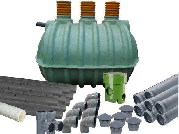 przydomowa oczyszczalnia trzy 3 komorowa 4000 litrów do 10 osób Mocna