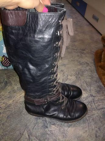 Зимние сапоги кожаные 40 размер