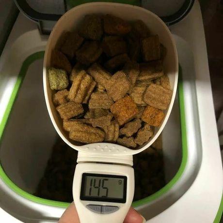 Электронная мерная ложка-весы для корма с LED дисплеем