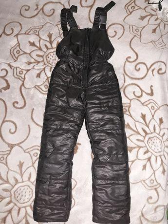Полукомбинезон штаны теплые осень зима