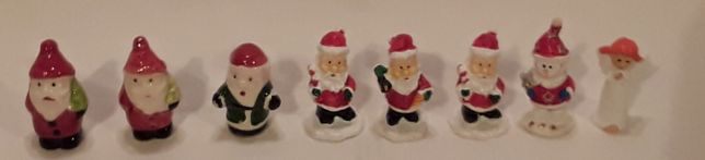 Conjunto 7 Figuras Pai Natal em miniatura