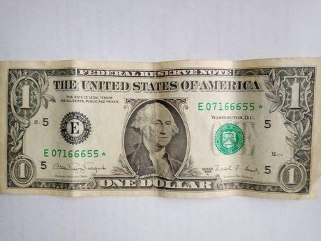 Банкнота один долар США 1988 А звезда