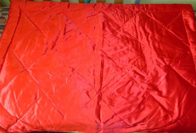 Одеяло пуховое 218х137 красное