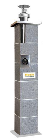 System kominowy HOCH TURBO Stal SW (dymowo-wentylacyjny) Ø125 6 mb