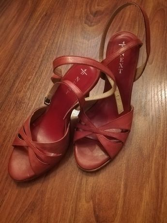 Sandałki, czółenka, buty NEXT 37 skórzane