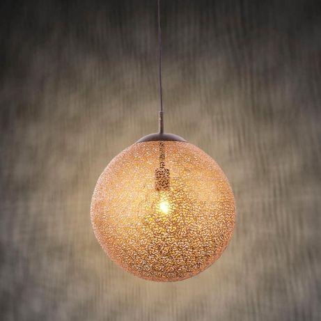 Stylowa lampa wisząca kula złota/brązowa GRETA 2420-48 Paul Neuhaus