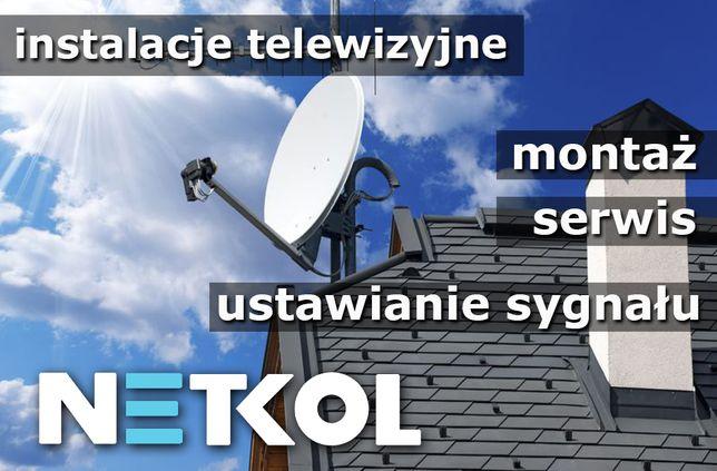 Ustawianie sygnału anten satelitarnych oraz naziemnych, Instalacje TV