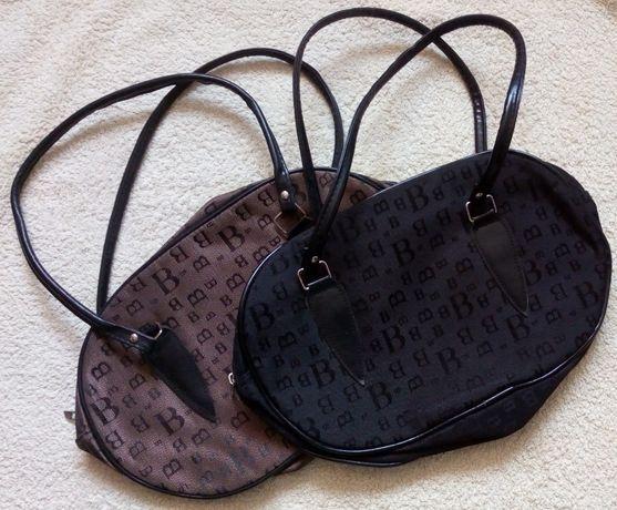 Nowa kosmetyczka lub torebka z nadrukiem - czarna i brązowa