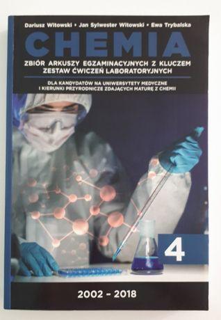 Chemia 4 zbiór arkuszy egzaminacyjnych z kluczem - Dariusz Witowski
