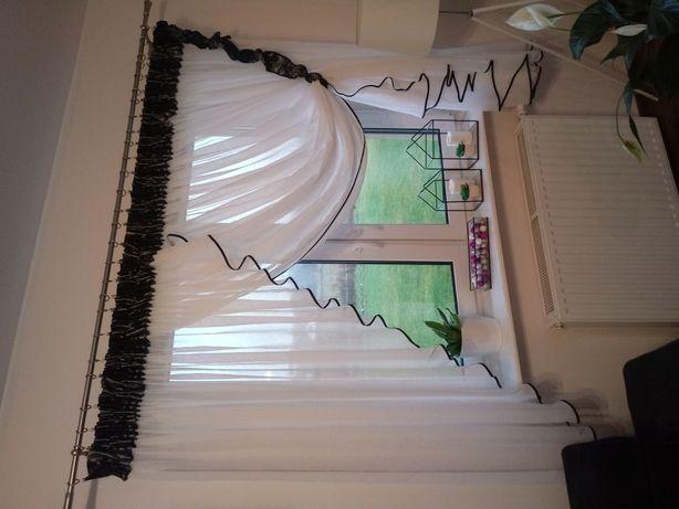 Zestaw firanek 2 x okno + drzwi tarasowe (2 szt)