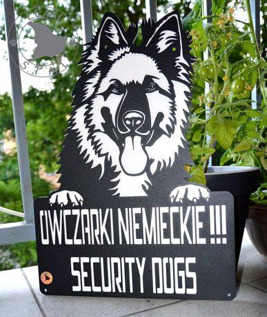 Tabliczka Uwaga Pies - śmieszna - Owczarek Niemiecki Mastiff Dog