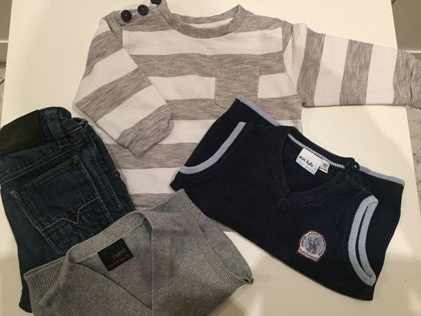 Zara HGO BOSS next 82 spodnie bluza sweterek bezrękawniki
