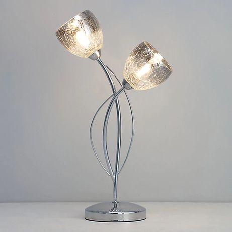 Lampa stołowa stojąca z efektem chromu Ersa 2 X G9