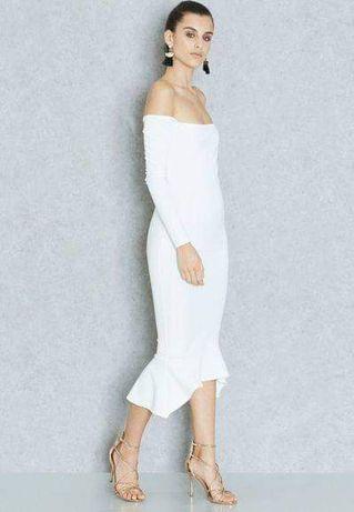 Sukienka MIDI biała