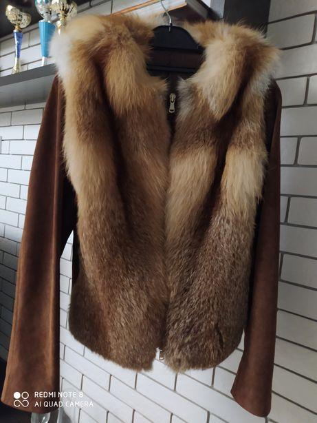 Куртка лиса дублёнка