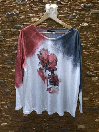 Нежная красивая кофта, блуза,свитшот 54-56 размер батал