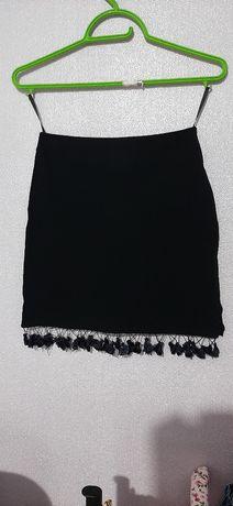 Школьная юбка чёрная, 146 рост