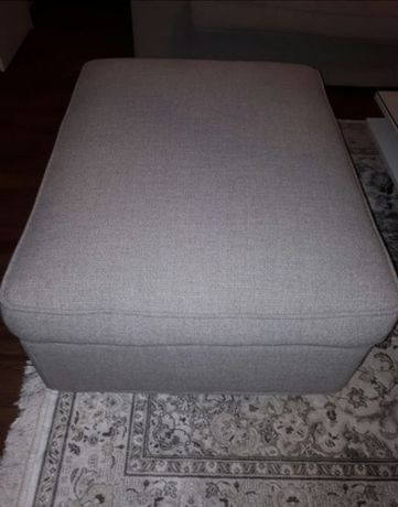 Ikea Pufa kivik Tenö jasnoszary