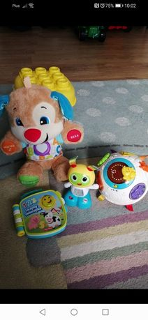 Szczeniaczek uczniaczek, kula hula, robot bebo, książeczka grająca