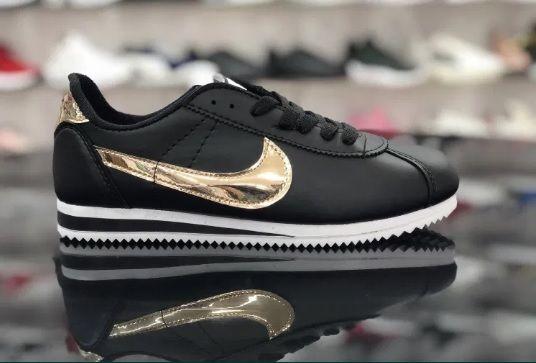 Nike Cortez/ Rozmiar 37 Czarne - Złote *WYPRZEDAŻ*