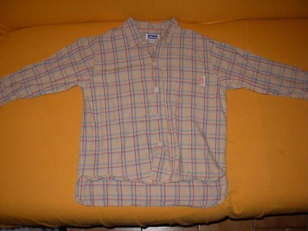 Camisa Chicco 5 anos quadriculada unisexo + T'shirt Chicco azul 5 anos