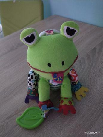 Lamaze, żabka Monika, zawieszka z grzechotką