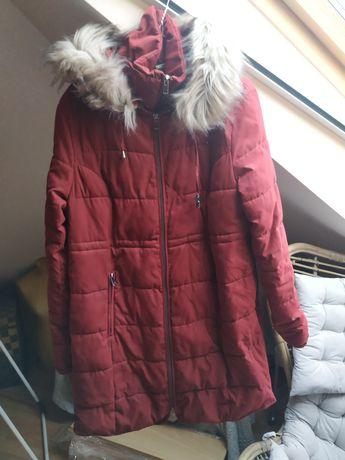 Zimowa kurtka ciążowa Bonprix z wstawką na nosidełko rozmiar 40