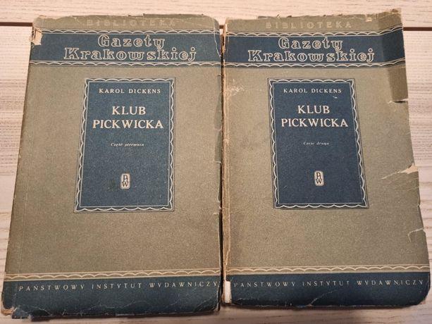 Klub Pickwicka – obie części - Karol Dickens z 1951r.