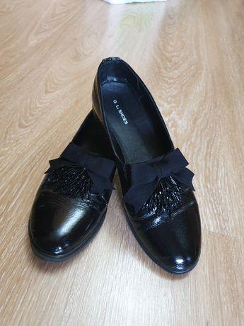Женские туфли, натуральная лакированная кожа