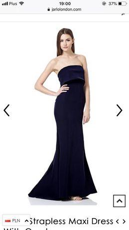 Długa suknia sukienka maxi balowa wieczorowa rybka NOWA 38 M Jarlo