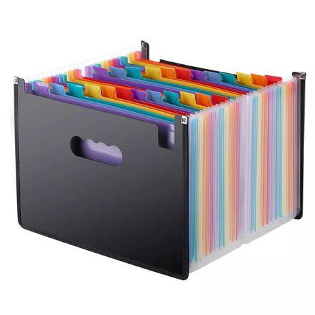 Новый органайзер папка для документов бумаги с стикерами 24 отделения