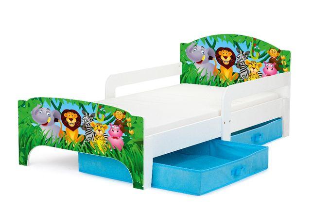 """Łóżko dziecięce Smart - """"Zwierzaki"""""""