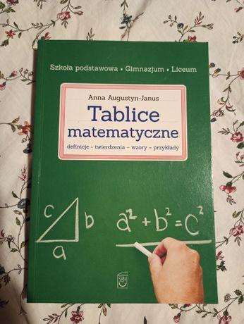 Tablice matematyczne, Matematyka, Szkoła podstawowa, Liceum