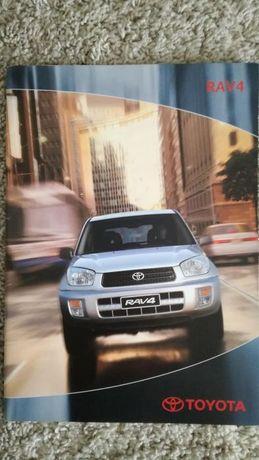 Rarytas! Katalog folder Toyota RAV4 II gen., j. polski