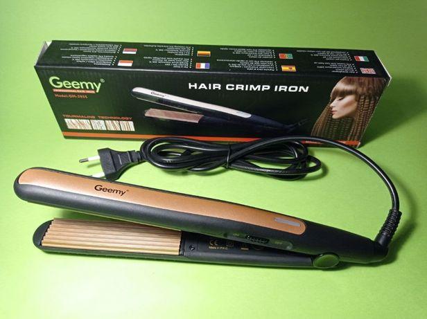 Утюжок Щипцы гофре для волос Gemei GM-2955 с турмалиновое покрытие