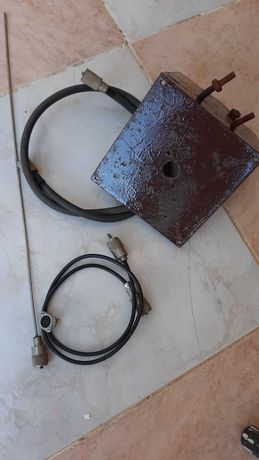 Suporte base antena com cabos de aço