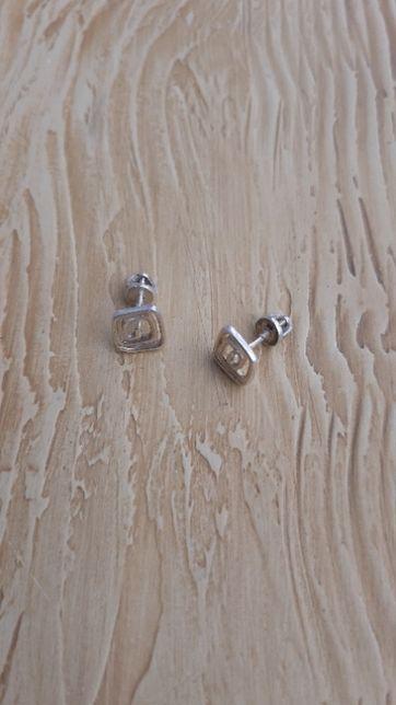 серьги спиральки сережки серебро пусеты гвоздики 925 проба спираль