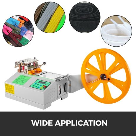 Máquina de Corte de Bandas e Fitas em Tecido, Plástico e outros.