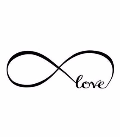 Autocolante/vinil decoração de parede - love - amor infinito