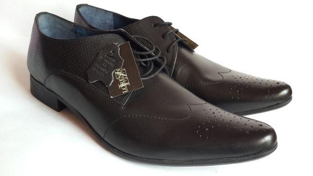 Мужские туфли, дерби с открытой шнуровкой Lorenzo Vini, новые, Франция