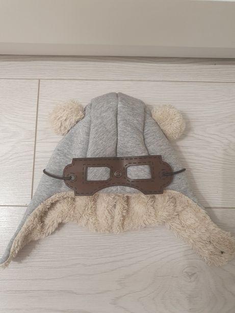 """Czapka pilotka z okularami """"Teddy"""""""