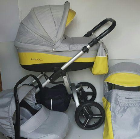 Nowoczesny wózek Bebetto Luca 2w1 lub 3w1, stan bardzo dobry.