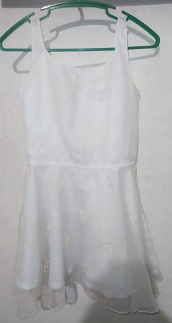 Платье белое, снежинка, зима, новогодний костюм
