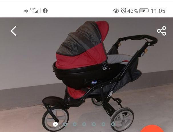 Wózek Chicco Trio+gondola (śpiworek i akcesoria) Stan BDB MEGA OKAZJA!