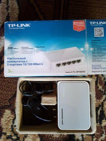 TP-Link коммутатор с 5 портами