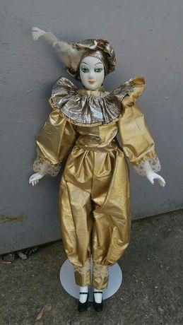 Фарфоровая кукла.Арлекин.На подставке.Голландия.