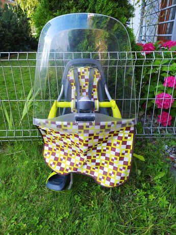 Fotelik rowerowy przedni Quibbel fotel na rower dla maluchów do 15 kg