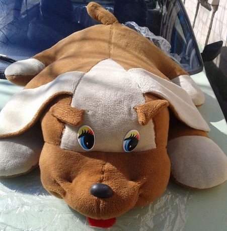 большая мягкая игрушка собака лежак Собачка-лежак Игрушки Мягкие