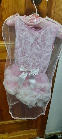 Różowa sukieneczka do sesji lub roczek