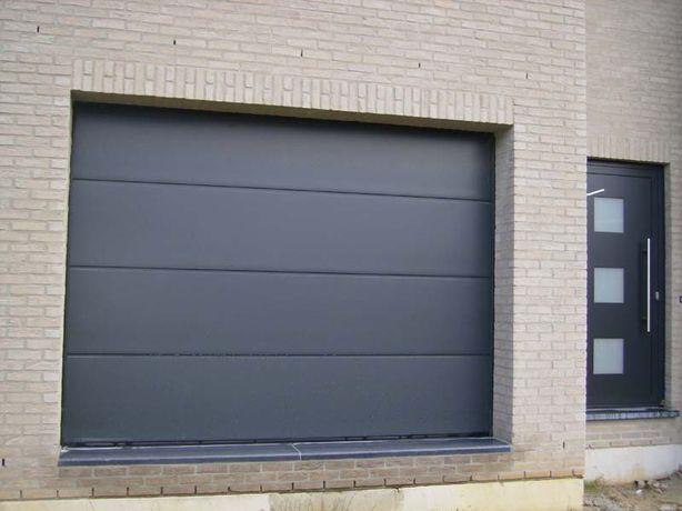 Brama segmentowa garażowa - 280 x 225 na wymiar ANTRACYT